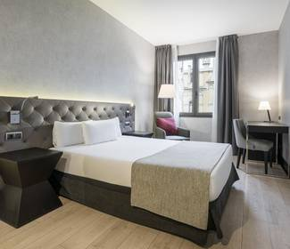 Chambre double hotel ilunion bel art barcelone